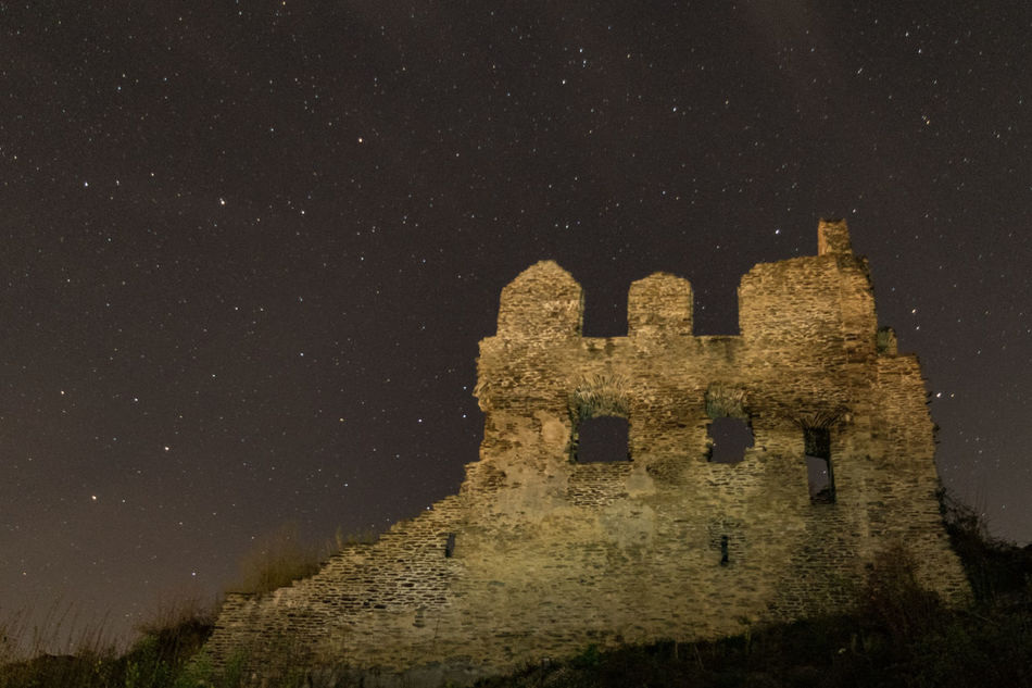 Night & Ruins Ancient Civilization Architecture Castle Castle Ruin EyeEm Best Shots History Low Angle View Night Nightphotography No People Old Ruin Outdoors Ruin Sky Star Star - Space Welcome To Black