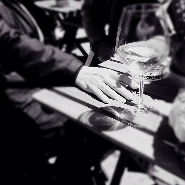 Tavolo. Table Trieste Structures Together Blackandwhite Sittingwaitingwishing Last Story My Favorite Place Vino Timeswehad Glass Barbacan Hand Shadow Remember Monochrome Photography