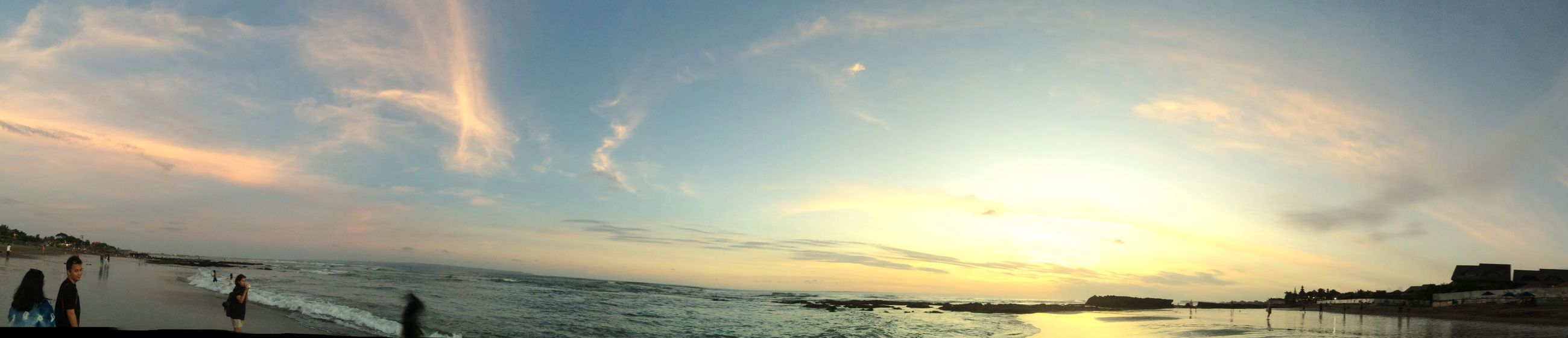 Sunset at Canguu Sunset Water Sea Sky Tranquil Scene Scenics Cloud Panoramic Tranquility Vacations Beauty In Nature Calm Nature Sun Ocean Coastline Cloud - Sky Cloudscape Tourism Waterfront Visitindonesia Bali, Indonesia Iphone5s