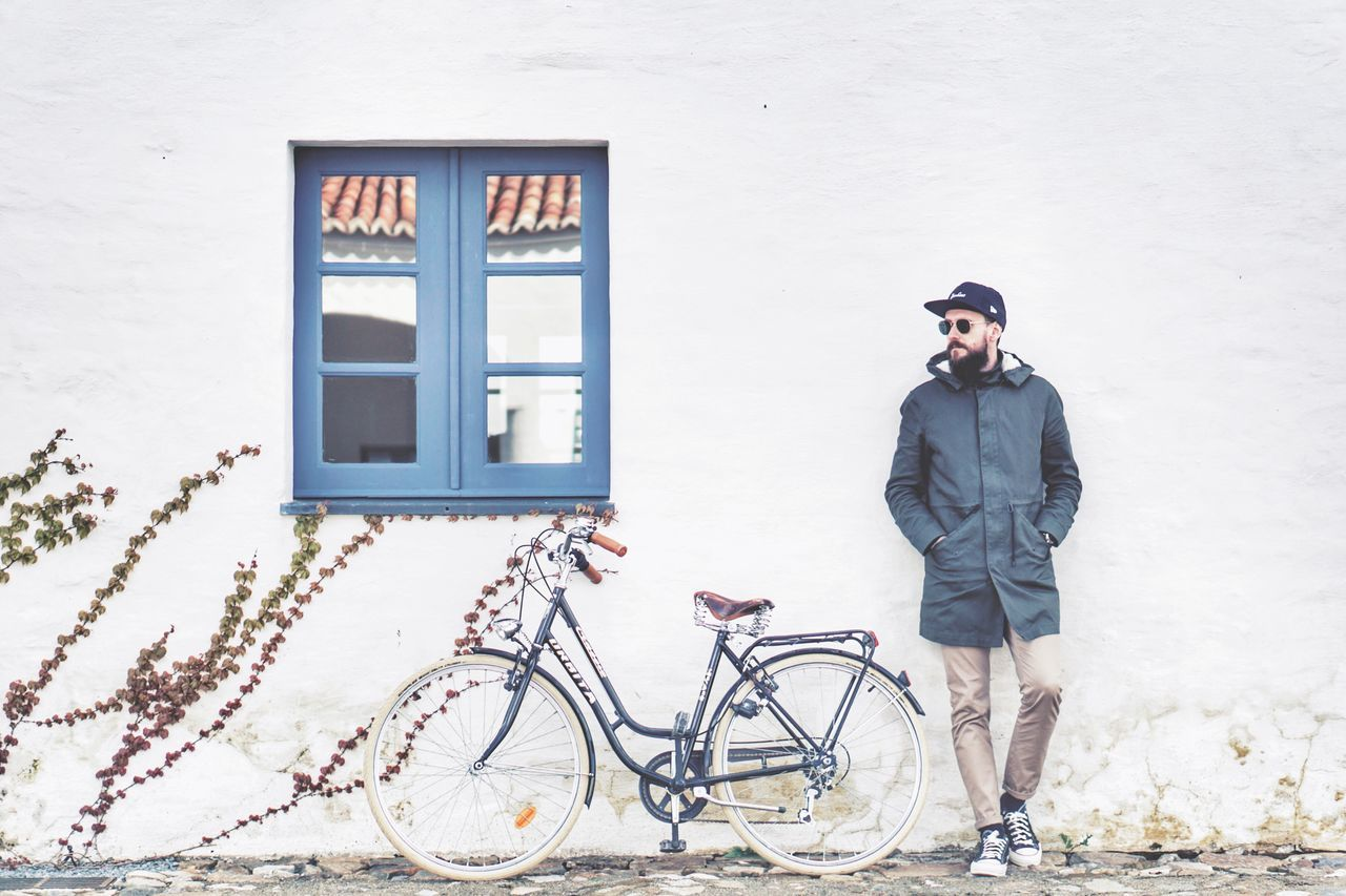 Beautiful stock photos of fahrrad, one man only, only men, full length, adults only