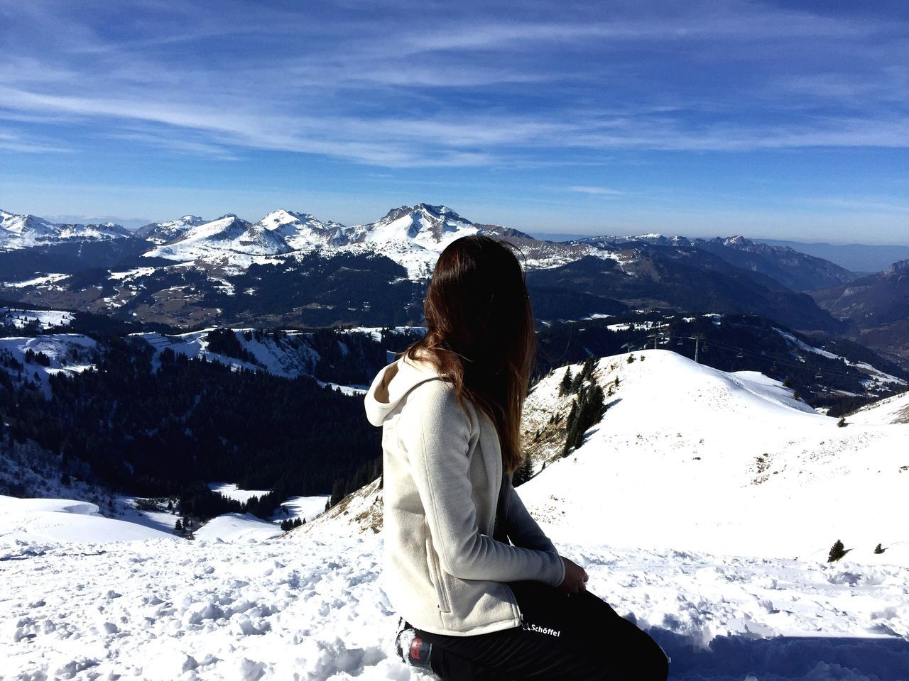 Winter Snow Mountain Nature Beauty In Nature One Person Lifestyles Snowboarding Skiing