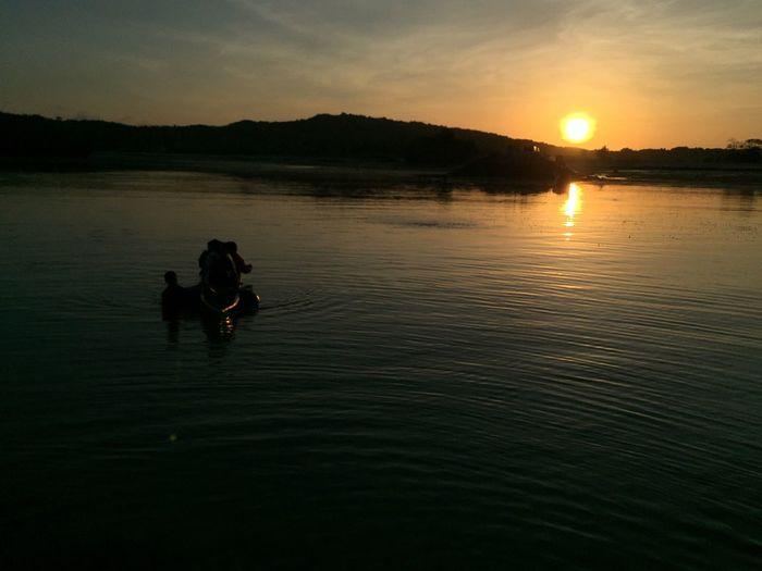 Sunrise Sea Habour Water People Sailor Man Sheep Nature Rote INDONESIA