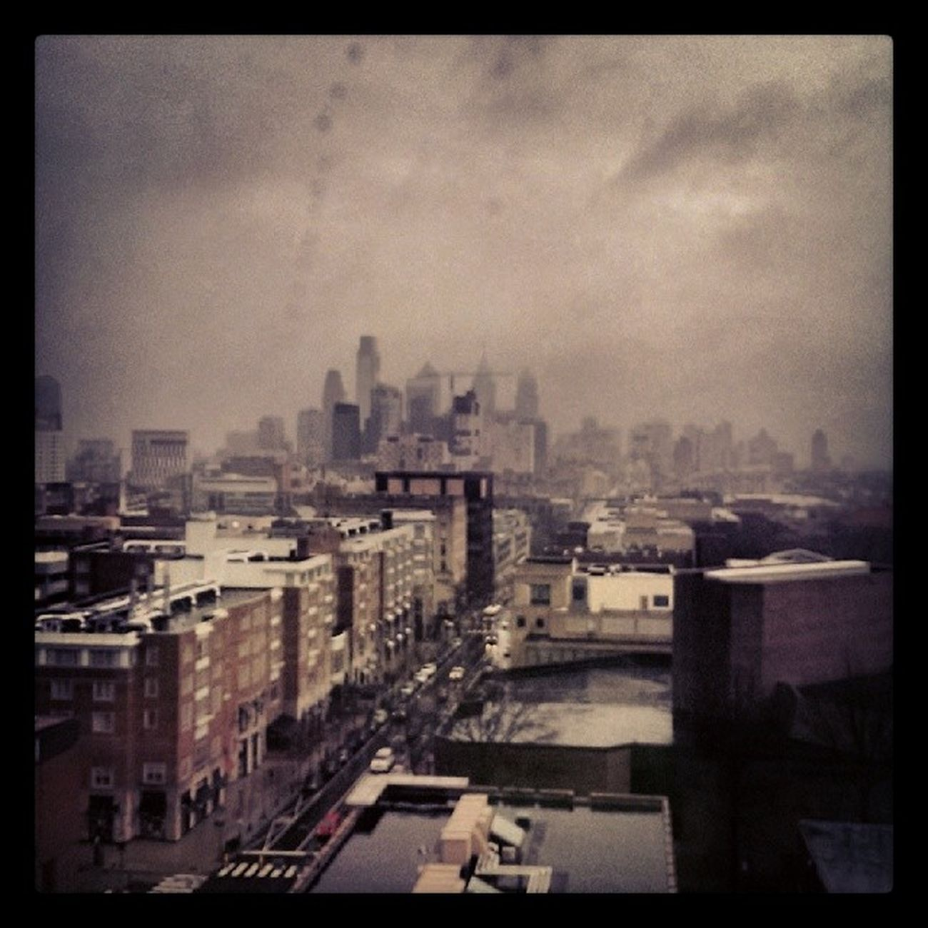 Philly skyline from the view of Wharton at Upenn Pennlawlife pennlaw stoked