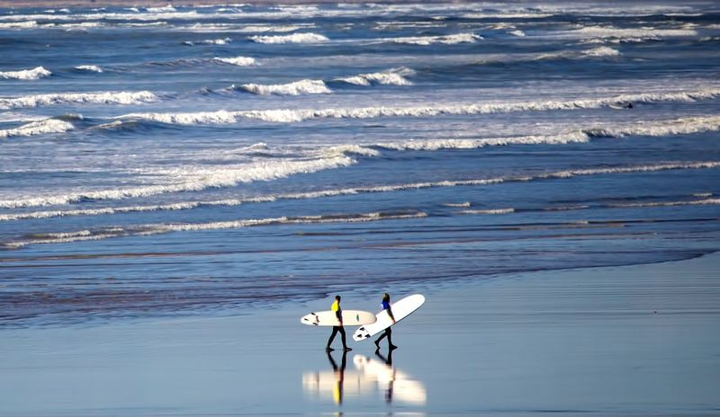Showcase April Nature Coastal Natural Devon North Landscape Sea Westward Ho! Blue Wave Seaside Beach Ocean Reflection Coast Sand Water Walking The KIOMI Collection Surf Surfers Waves Surfing Wetsuits The Great Outdoors - 2017 EyeEm Awards Perspectives On Nature
