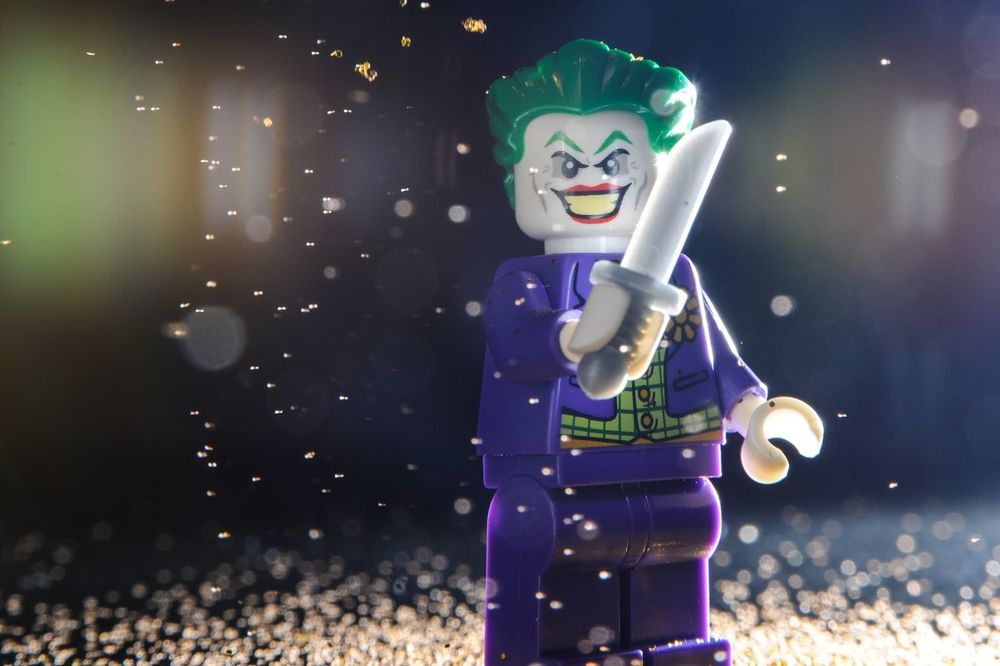 Knives and lint LEGO Joker Toy Photography Lego Minifigures Legophotography LegoBatman Thejoker Things I Like
