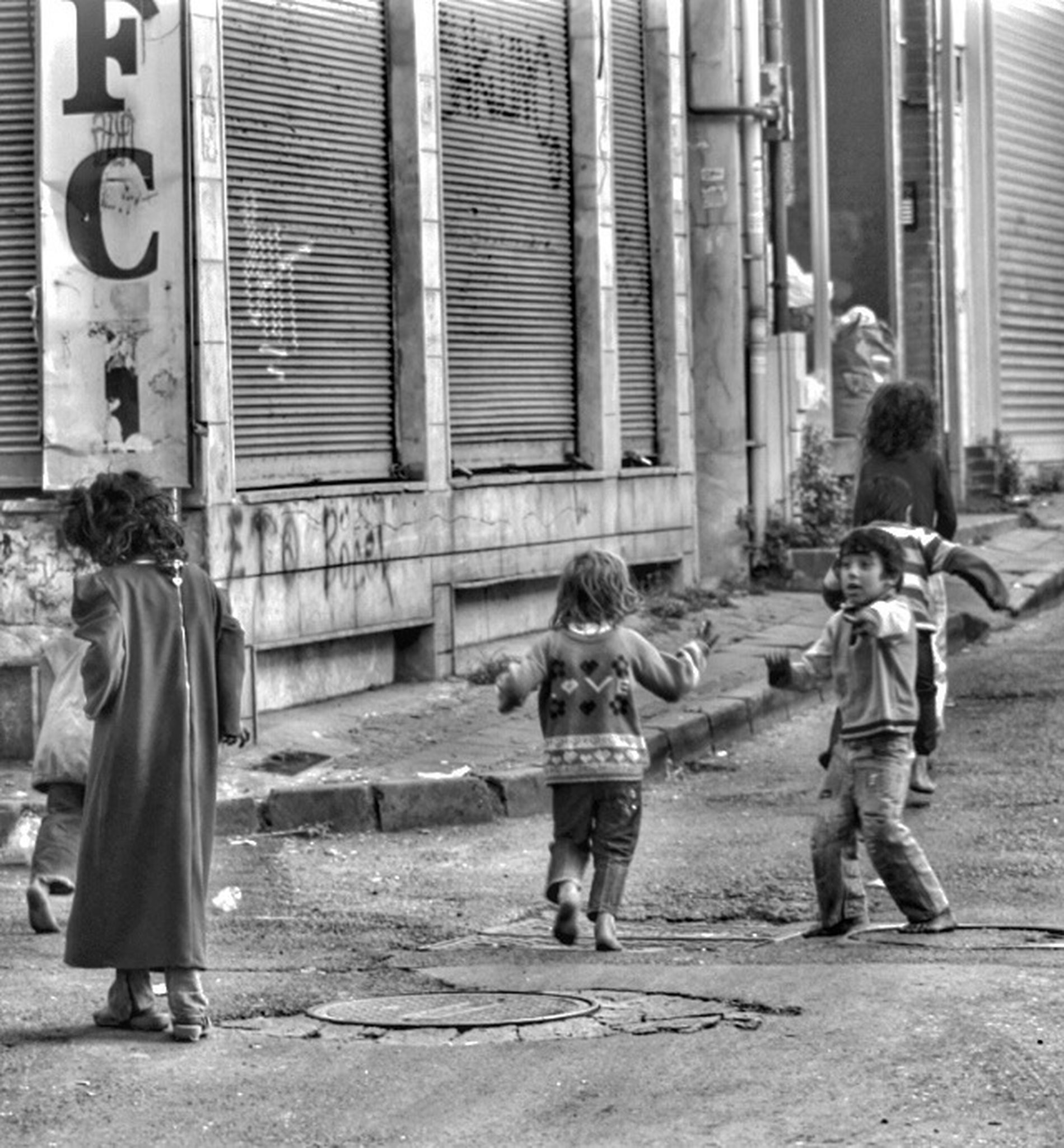 Syran children are playing on a street at Istanbul Syrianchildren Stree Photography Invisiblephotographer