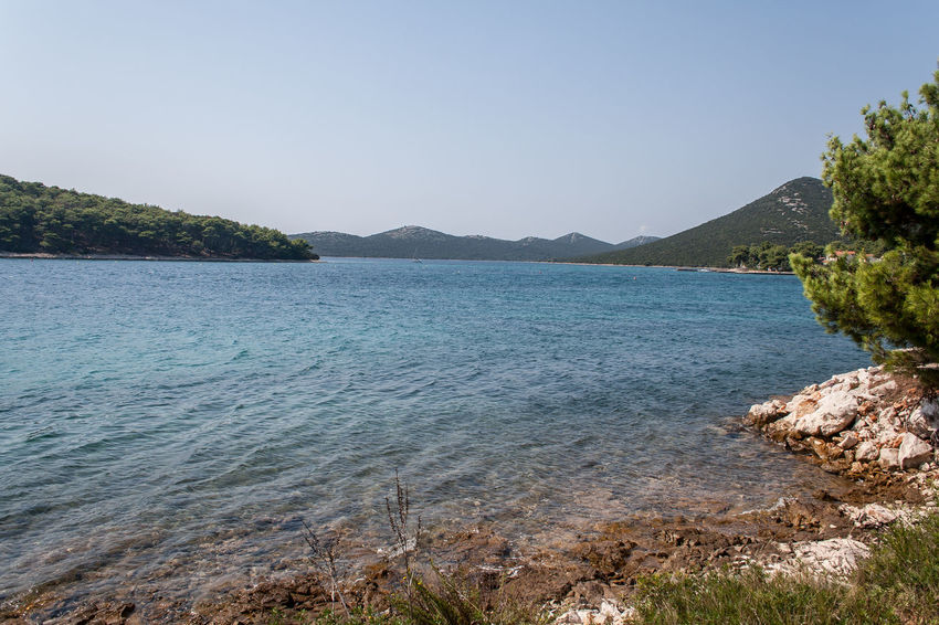 Croatia Otok Molat Beauty In Nature Blue Clear Sky Dalmatia Day Mountain Mountain Range Nature No People Outdoors Scenics Sea Sky Tranquil Scene Tranquility Tree Water