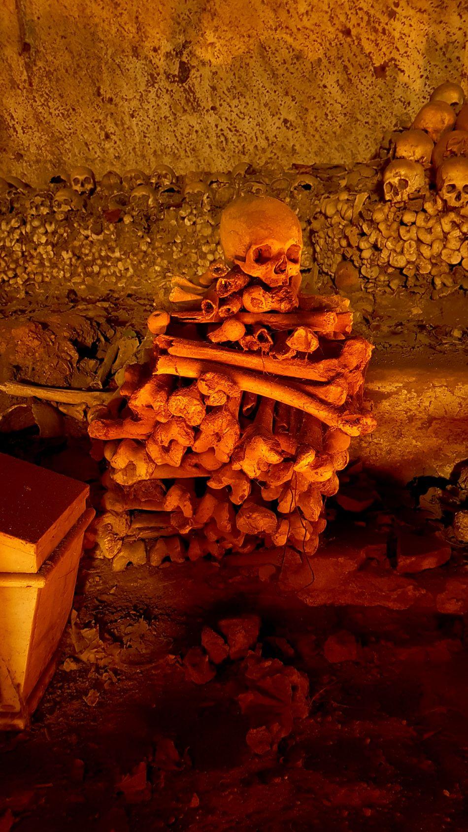 Skull Bones Cimitero Delle Fontanelle Naples Italy Halloween
