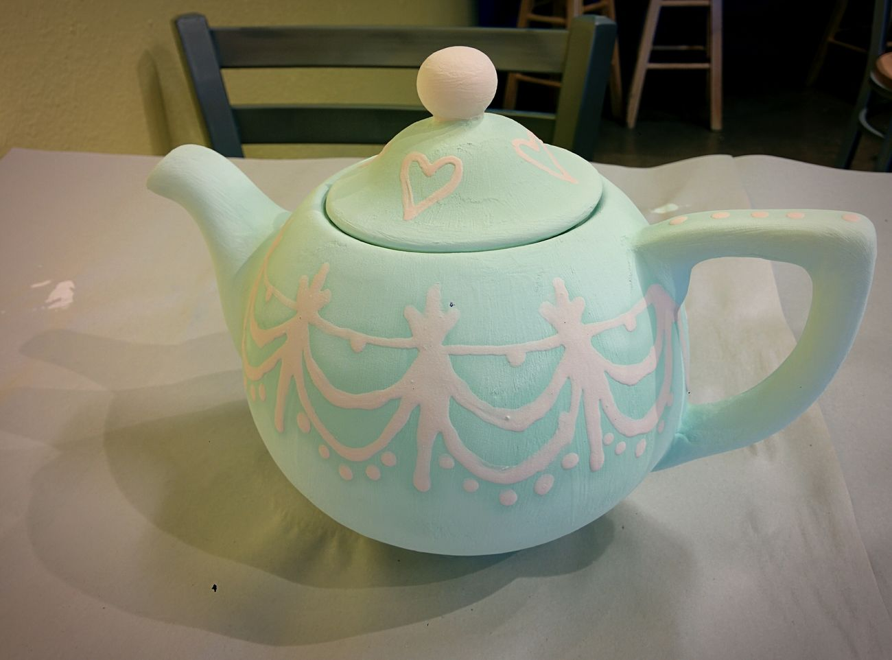 Hand made tea pot Tea Time, pot,Cute, Classic decorations