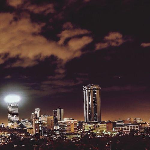 A night shot of Nairobi City Hello World Nairobi Check This Out First Eyeem Photo NairobiKenya My Country In A Photo Nairobinights NairobiCity Nairobi_Architecture Igersnairobi