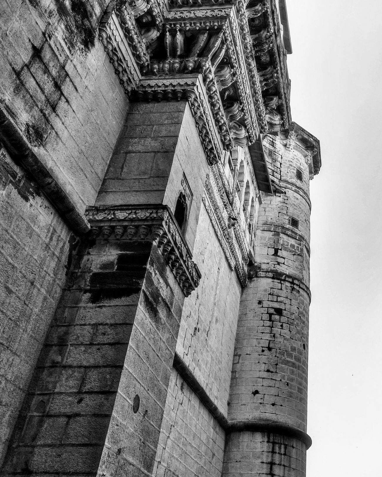 Architecture Built Structure Low Angle View Building Exterior Outdoors No People Teampixel Historical Building Historic City Incredible India Jodhpur Rajasthan Madebygoogle Shotbypixel Bnw_collection Bnw Photography