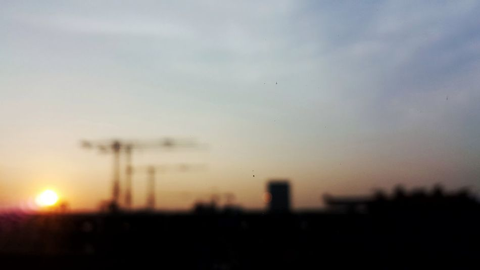 Sunset Sky No People Outdoors Nature Day Blur Evening Morning Light Background Construction Development Developing Country Magic Hour Magic Hour & Weather Dusk In The City Dusk Sky Dusk Light Dawn Dawn Of A New Day