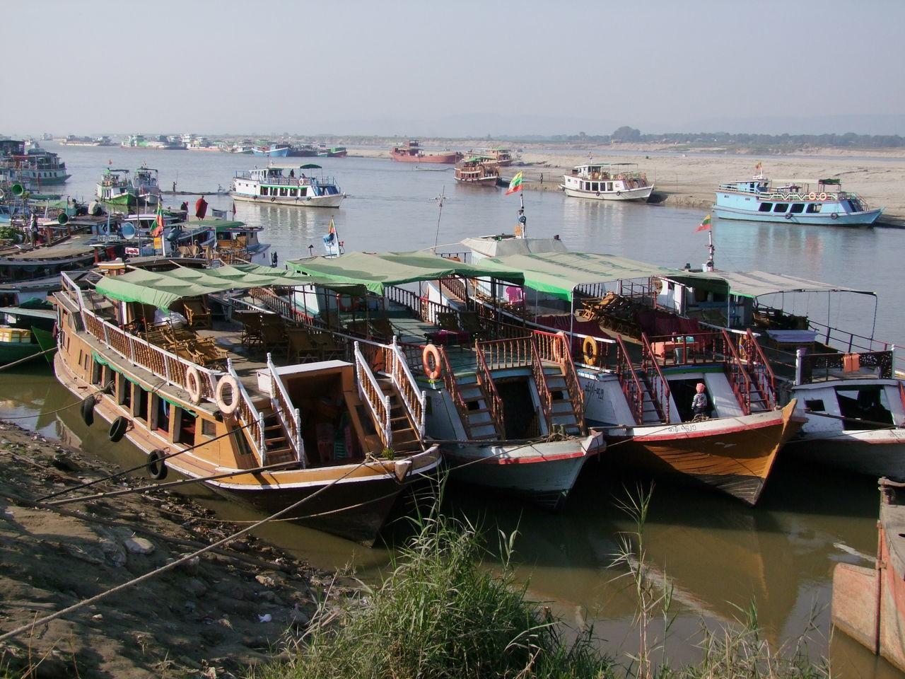 Boast at Mandalay Port on Ayeyarwady River Ayeyarwady River Botany Composition Ferries Harbor Jetty Mandalay Mode Of Transport Myanmar Nautical Vessel No People Outdoor Photography River River Bank  River Boats Sunlight And Shadows Transportation Water