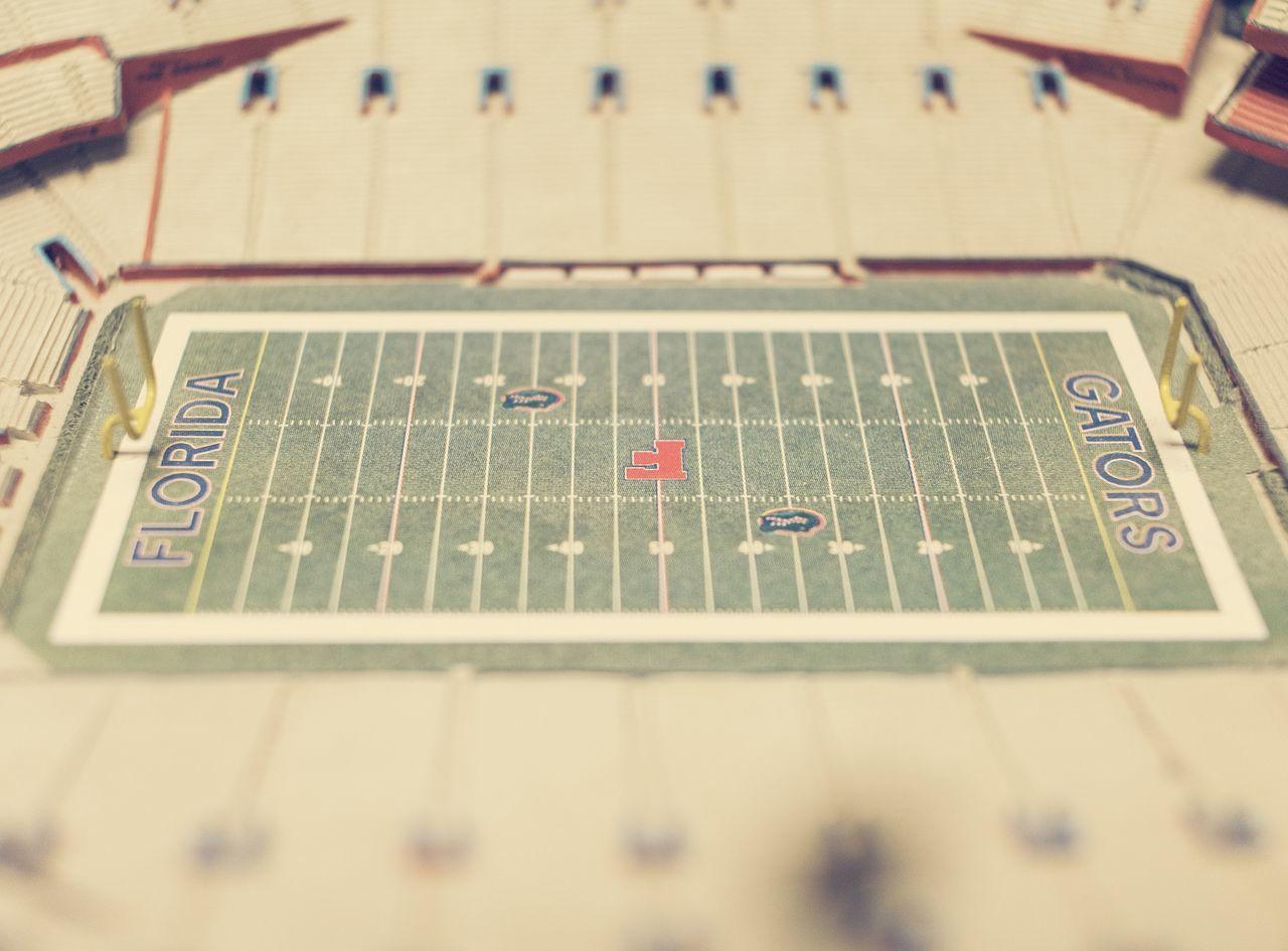 Replica Florida Gators stadium. Forced Perspective Stadium Gators Florida Gators Football Countergrind