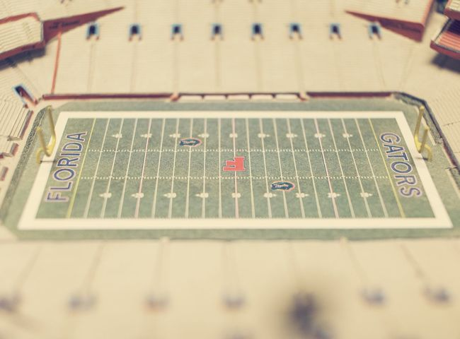 Replica Florida Gators stadium. Forced Perspective Stadium Gators Florida Gators Football Countergrind