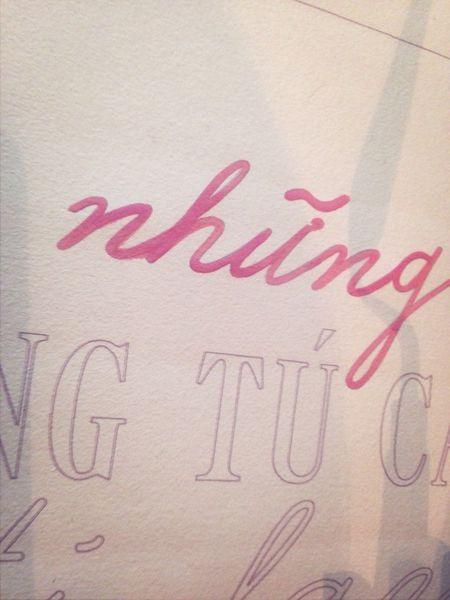 Bí bách :( Typography Handdrawntype