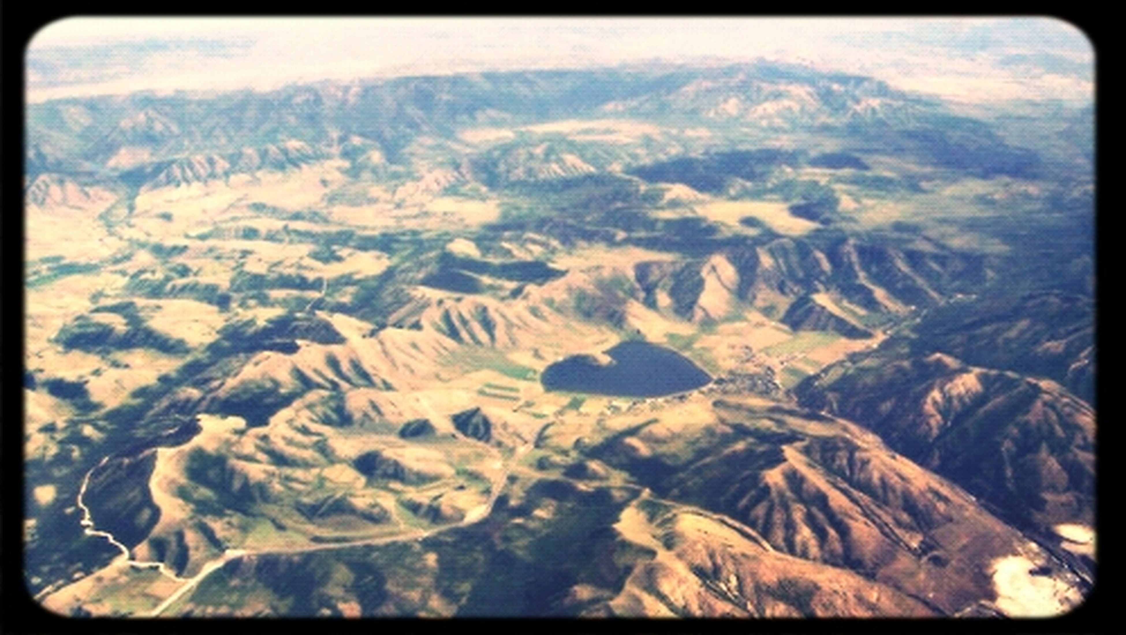 Landscape Travel From An Airplane Window