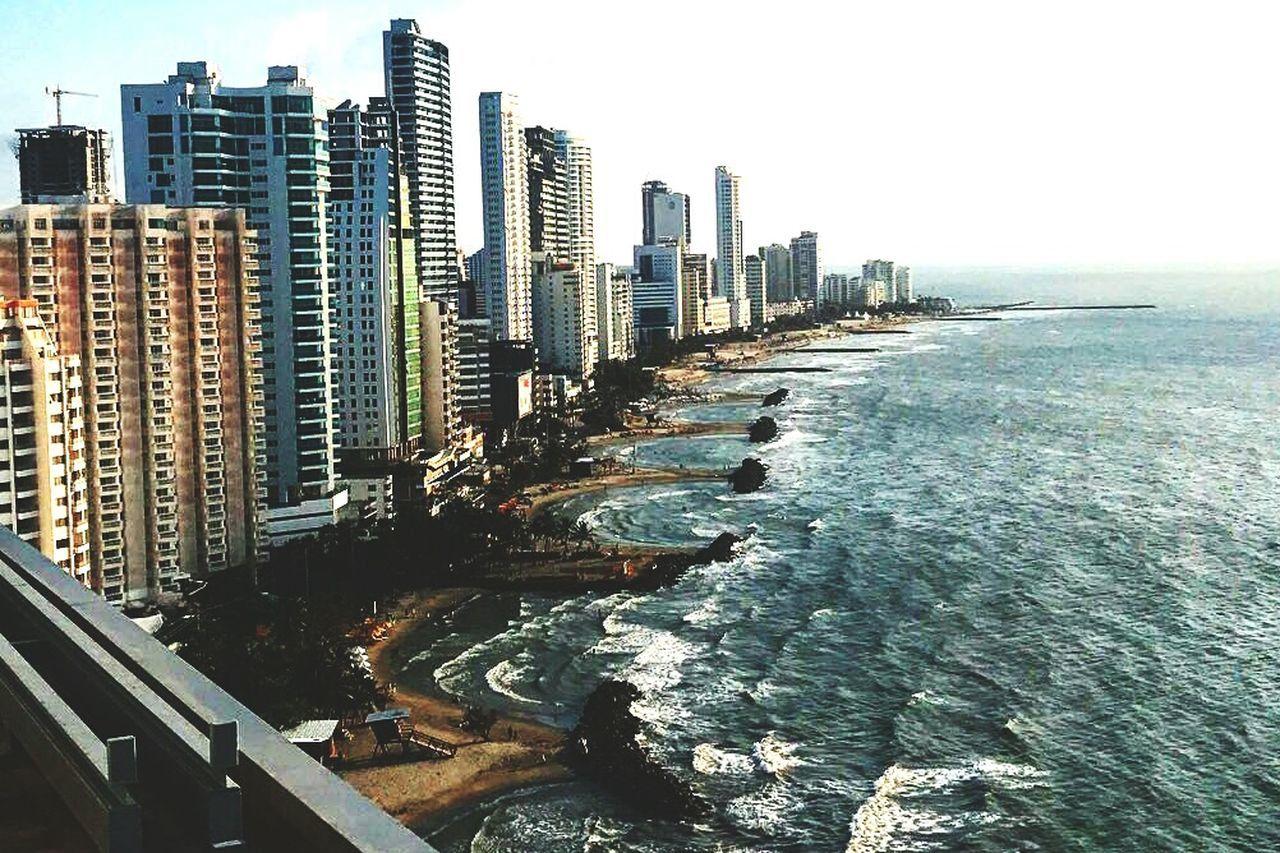"""El mejor lugar para vacacionar """"La Ciudad Amurallada""""! Horizon Over Water City Life Building Exterior Cityscape Sea Skyscraper Built Structure Travel Destinations"""
