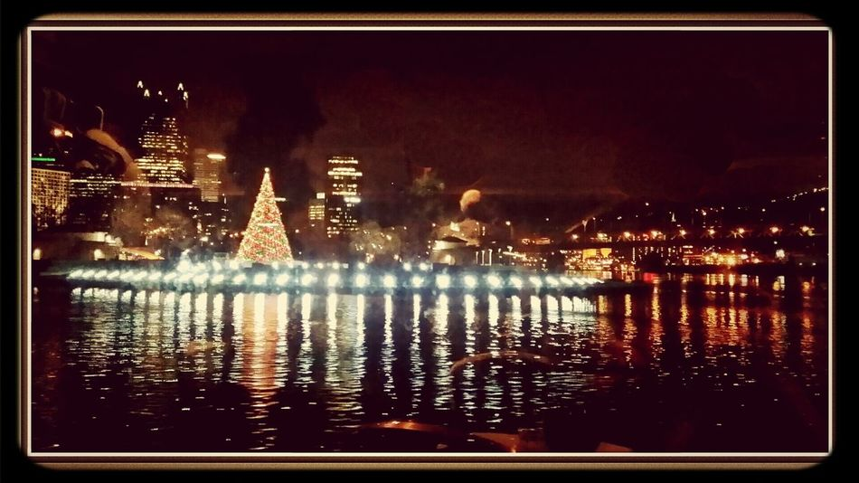 Gatewayclipper Pittsburgh 2013 Christmas Party floating on the Allegheny River Taking Photos