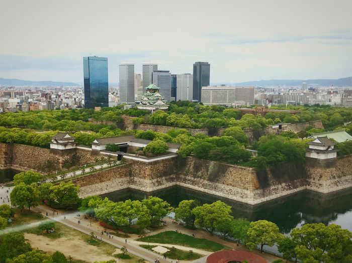 Osaka Castle from above