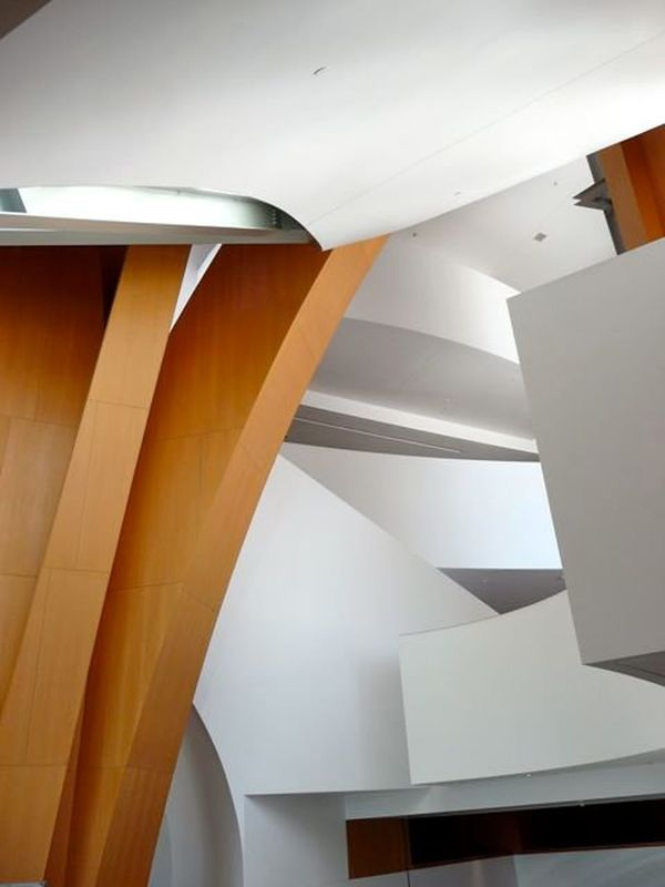 Architectural Feature Architecture Arrangement Beautiful Architecture Ceiling Design Disney Music Hall Dynamic Flowing Frank Ghery Building Ideas Indoors  L.A. Los Angeles, California Modern Movement Music Order Softness