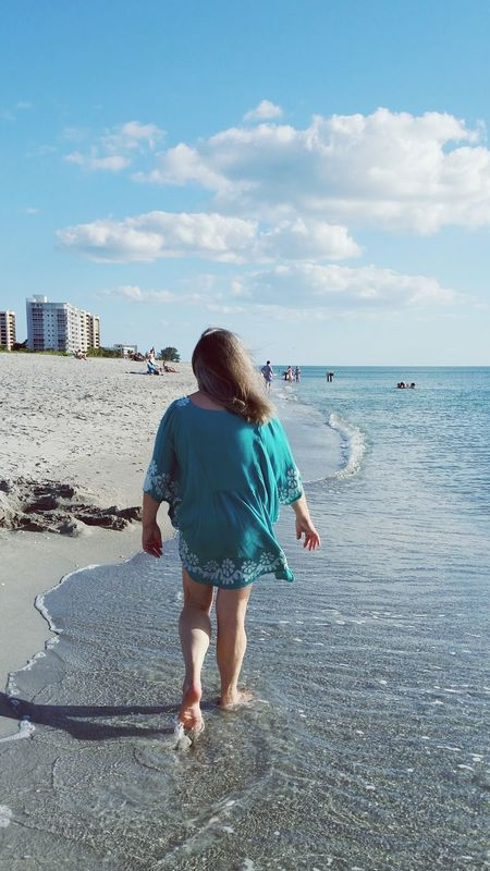 Sea Sky Blue Beach One Person Leisure Activity One Woman Only Women Sand Travel Destinations Strollingonthebeach Woman On The Beach Woman Walking On The Beach Gulf Coast Florida Been There.