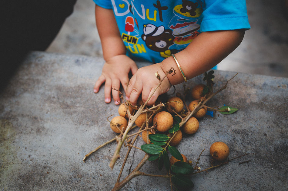 Baby and Longan Fruits ASIA Babyboy Cuisine Cultures Eyeem Food  Family Food Food And Drink Fruit Hand Human Hand Lifestyles Long Seafood Vietnam Vietnamese Food Women