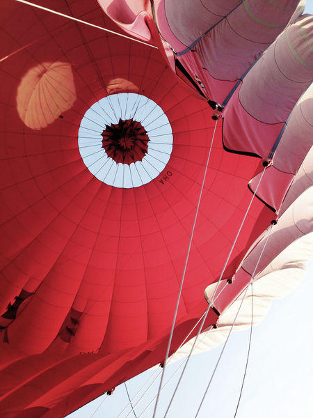 Abstract Bagan Balloon Ballooning ColorPalette Heißluftballon Red Rot Sky Whole