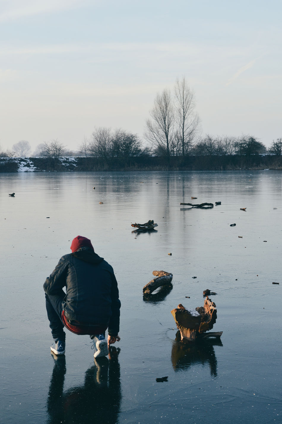 Adapted To The City Reflection Water Nature Outdoors Beauty In Nature People Sky Ice Nature Ice Winter My Man Den Bosch Fresh On Eyeem