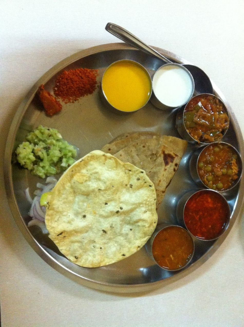 A ` Thali` meal in Kolhapur Bowl Complete Meal Discover Your City Fiery Food Food And Drink Foodie Freshness Healthy Eating IPhoneography Iphonephotography Kolhapuri Food Maharashtra On The Jaun Ready-to-eat Serendipity Travels Voyage Voyage