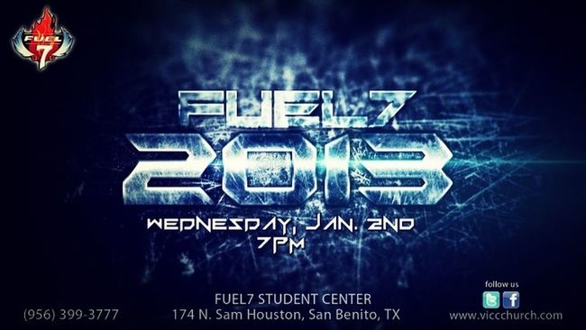 Preaching this Wednesday at Fuel7! New service for 2013! God is gonna move greatly!