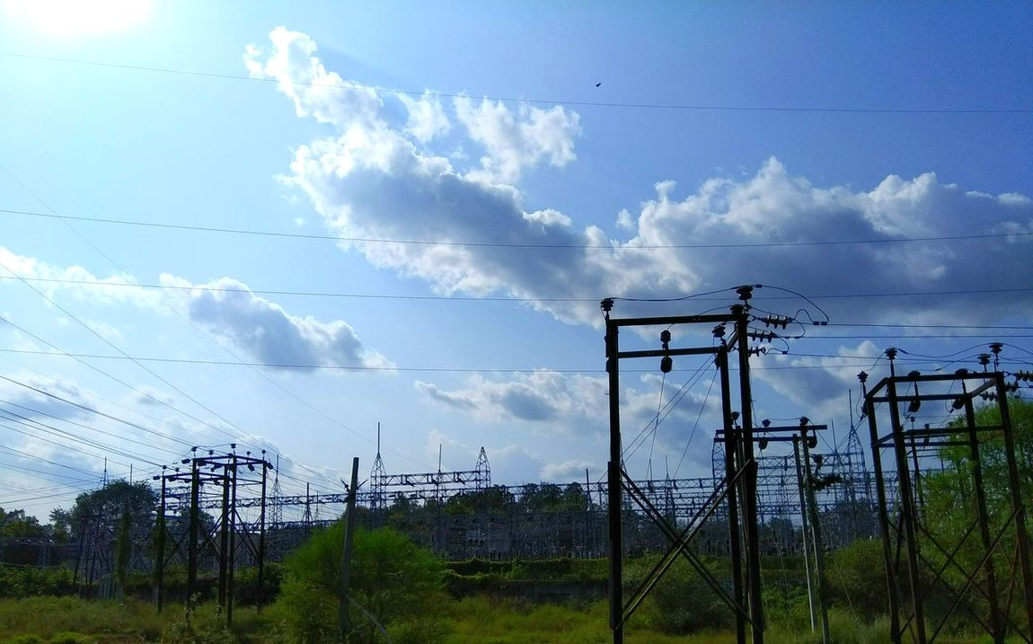 Hydel Hydelpower Electricity Pylon Electricity  Technology Cloud - Sky Cable No People Sky Day Outdoors Grass Nature Tree Bird