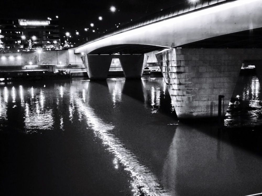 Paris Pont Du Garigliano Seine Architecture Architecture_collection Nightphotography Night Check This Out Urban Urban Landscape