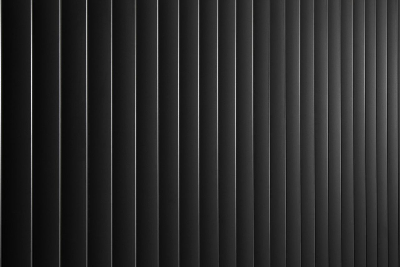 Metal Blinds Vertical Lines Monochrome Grey Metal Detail Background
