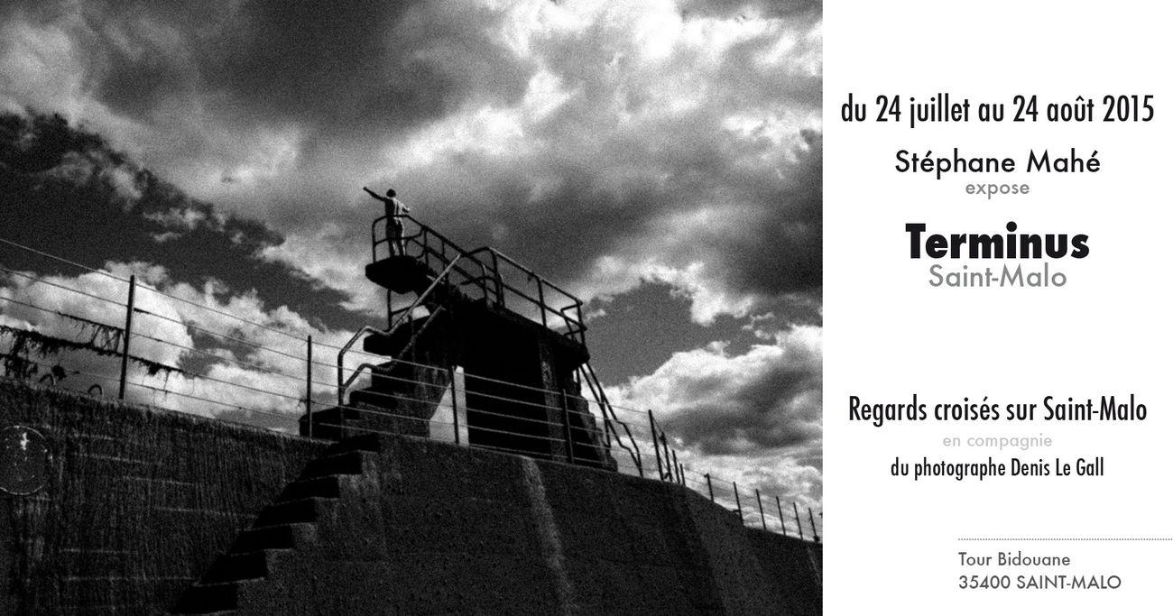 """J'expose à partir du vendredi 24 juillet jusqu'au lundi 24 août 2015, la série """"Terminus Saint-Malo"""", en compagnie du photographe Denis Le GALL, à la tour Bidouane, intra-muros à Saint-Malo. Si vous êtes dans la région durant cette période, n'hésitez pas à venir voir l'exposition."""