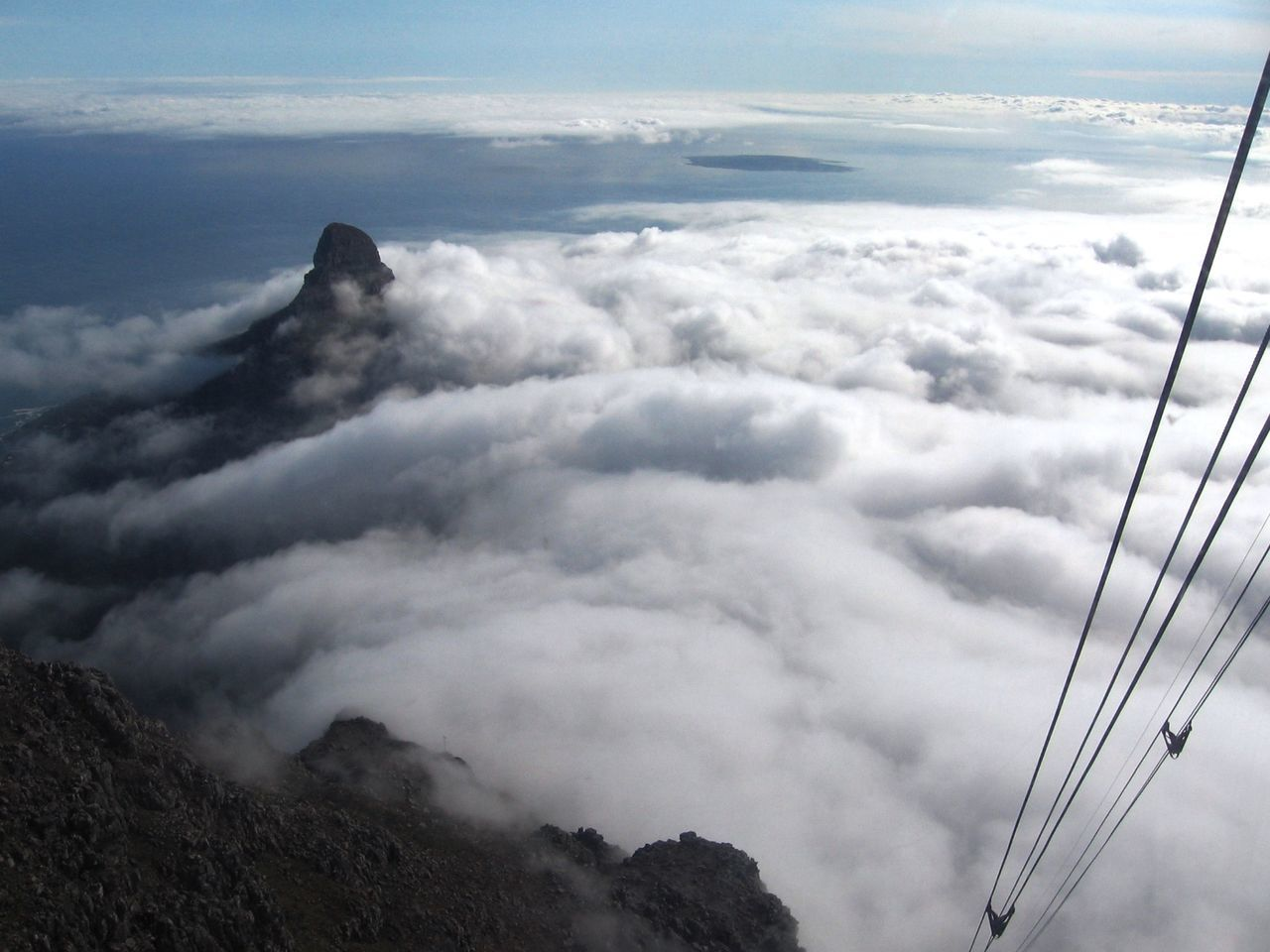 Atmospheric Mood Cable Car Cape Town Cloud Cloud - Sky Cloudscape Cloudy Dramatic Sky Height Landscape Looking Down Moody Sky Outdoors Overcast Overhead View Perspective Sky Table Mountain Travel Travel Photography View
