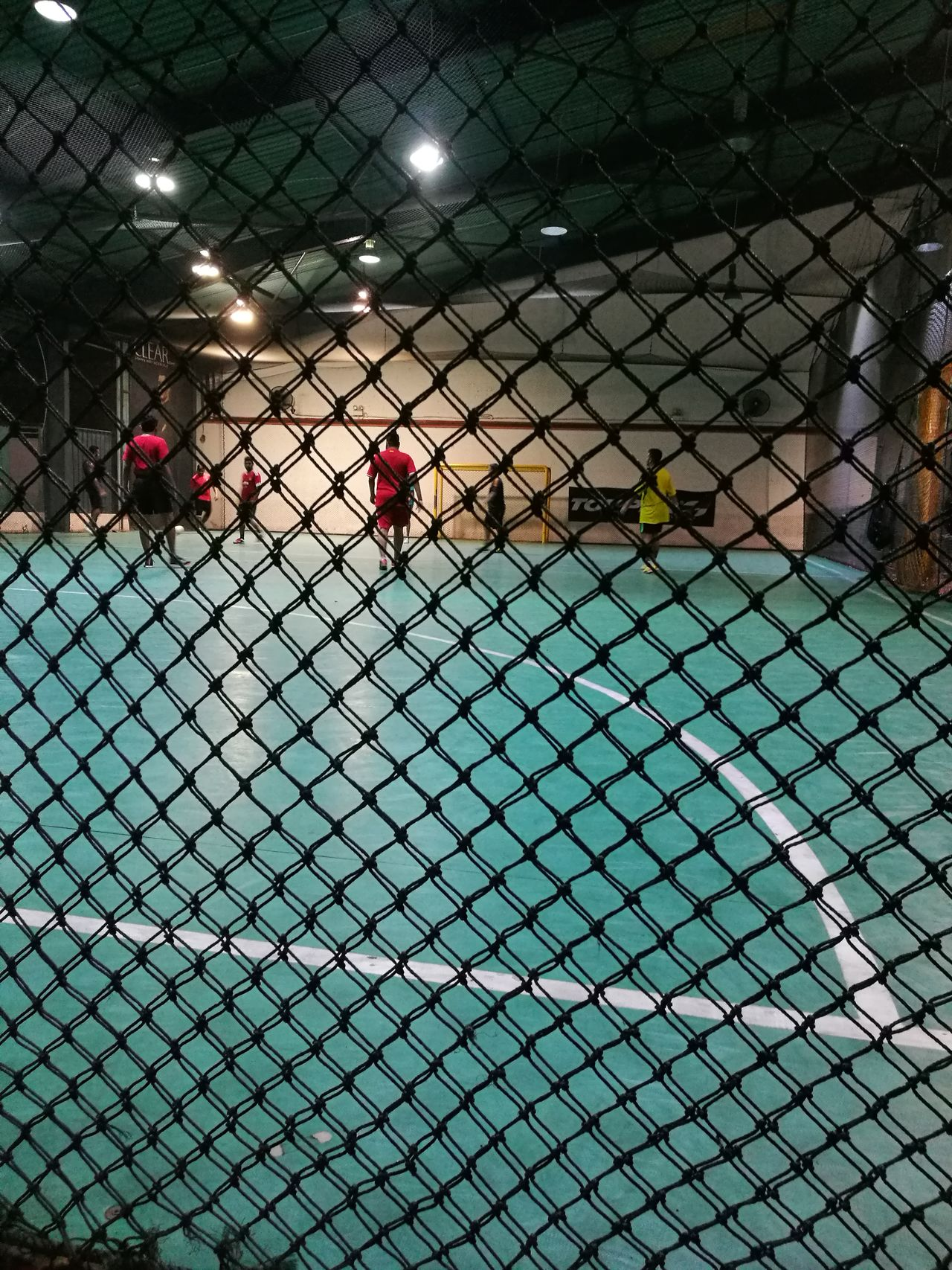 Chainlink Fence Metal Futsal Team Futsalcentre Court
