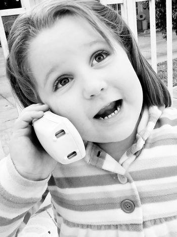 Happy Girl  Monochrome Blackandwhite Kids
