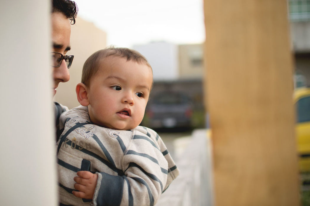 Baby Baby Baby Clothing Babyhood Casual Clothing Childhood Cute Dad Day Father Father & Son Fatherhood Moments Focus On Foreground Innocence Lifestyles Portrait Son