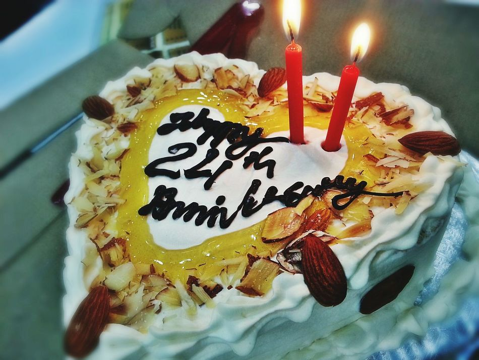 Cake Happy Anniversary Mom Dad Almond Cake Honey Cake