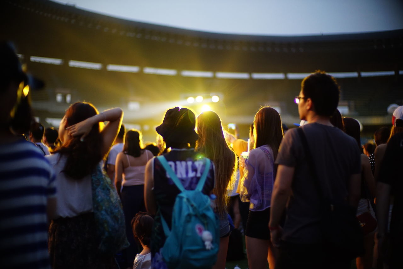 Beautiful stock photos of seoul, Arts Culture And Entertainment, Audience, Backpack, Concert