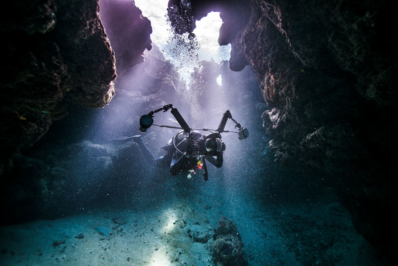 beauty in Nature day Nature one person only men outdoors people Scuba diving sky Tree UnderSea water