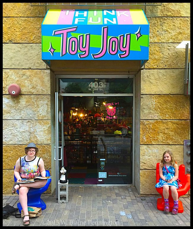 Toy Joy Thrives downtown!! Austin Texas Toy Joy Toys