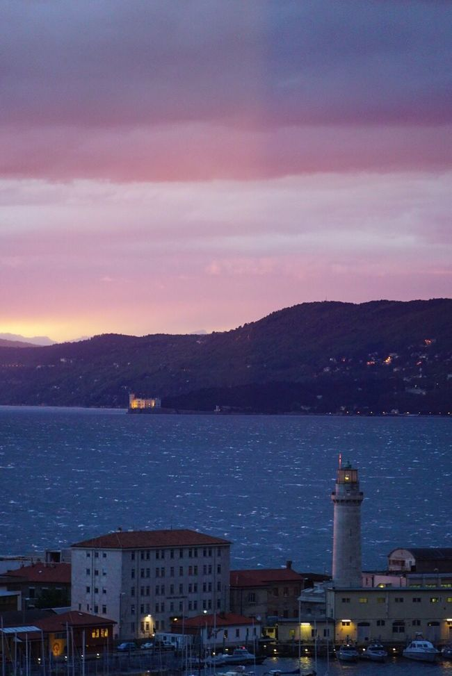 Taking Photos House Nature Trieste Gulf Of Triest No Filter Miramare Castle Storm Bora