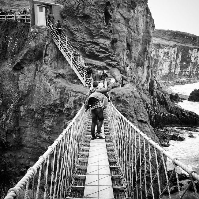 Life is a rope bridge in the wind.
