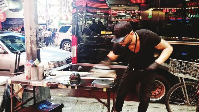 capturing motion One Person Art, Drawing, Creativity Artist Street Art Streetphotography Real People New York City Urbanphotography City Life Cityexplorer