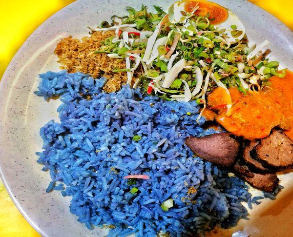 Nasi Dagang Kuala Lumpur Kelantan Malaysia Food Local Food Culture Blue Rice Healthy Lifestyle Healthyfood Close-up Food And Drink EyeEm Selects