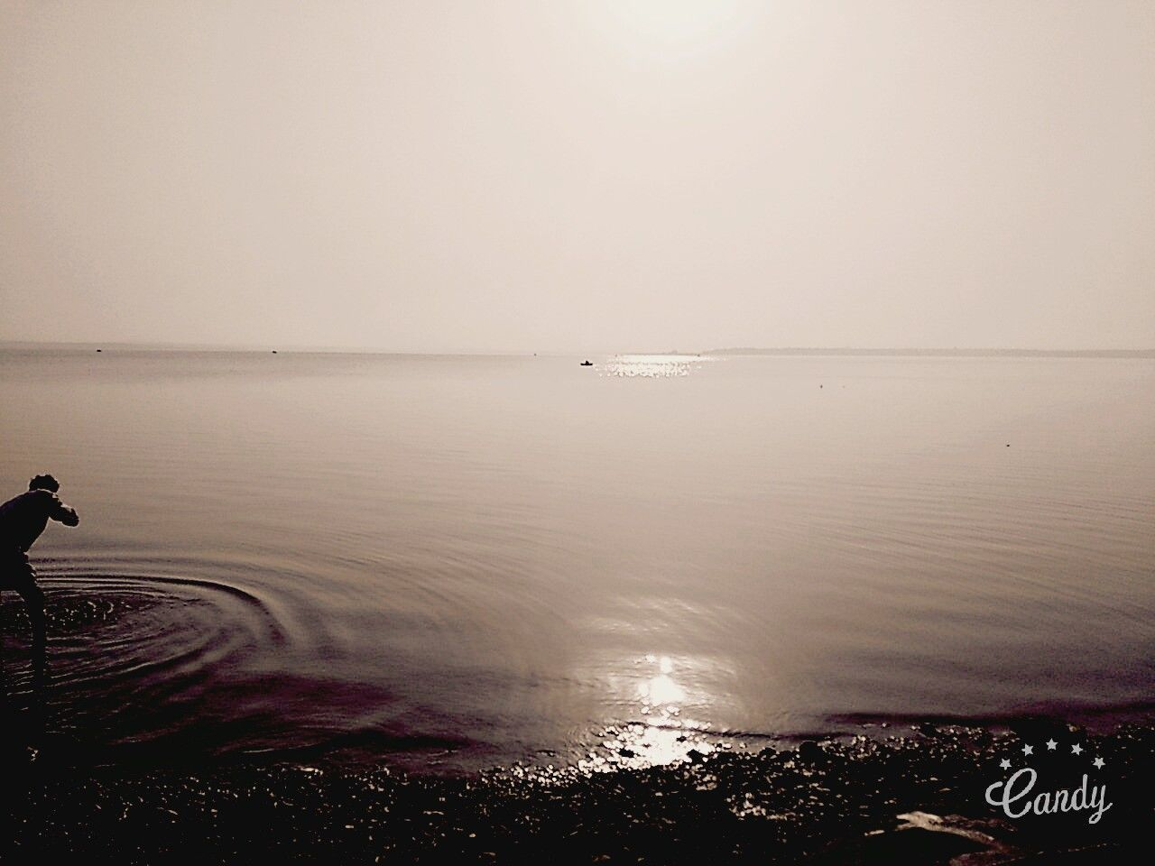 2nd largest lake in Asia..... Sea Water Horizon Over Water Reflection Calm Seascape Remote
