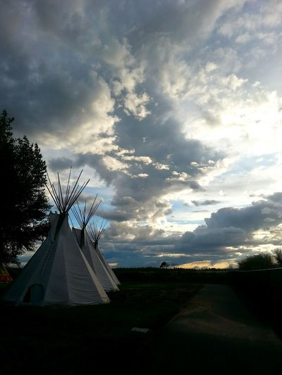 Indianstyle Landscape Washington State Beautiful Sky
