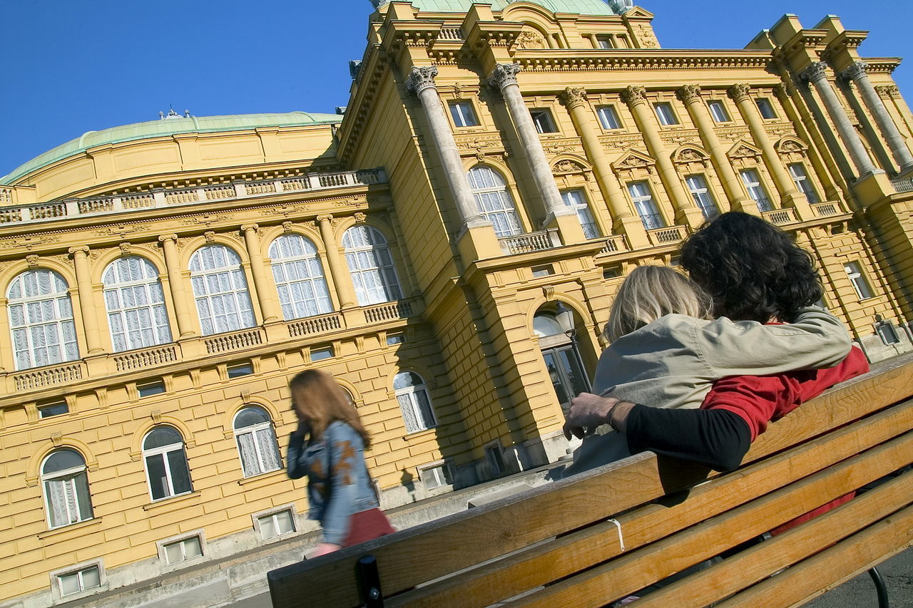Adult Adults Only Architecture Building Exterior Built Structure City City Break Croatia Cultures Day Façade History National Theater Outdoors People Sky Theater Tourism Tourist Travel Travel Destinations Vacations Women Zagreb